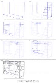 Bunk Bed Drawing How To Draw A Bunk Bed Printable Step By Step Drawing Sheet