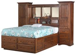 indiana trail wall unit platform bed from dutchcrafters amish