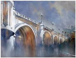 watercolor and architecture combine through schaller