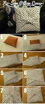 Pillow Covers For Sofa by Best 25 No Sew Cushions Ideas On Pinterest No Sew Pillow Covers