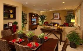 Alluring  Living Room Kitchen Combo Decorating Ideas - Living dining room combo decorating ideas