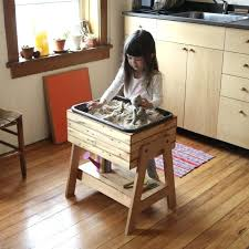 step 2 sand and water table sand table with lid inch tall activity table lid wooden sand table