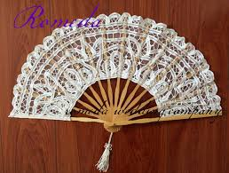 lace fan free shipping 10pcs lot battenburg lace fan and