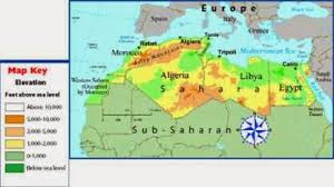 africa map elevation morocco elevation map