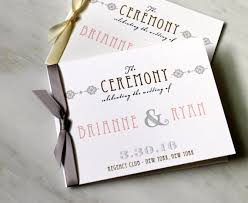 wedding ceremony booklet ceremony programs small wedding ceremony booklet with