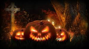 halloween scary jacck skellington spooky cemetery pumpkins cool