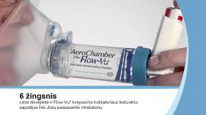 chambre d inhalation aerochamber kaip naudotis aerochamber plus flow vu astmos tarpine su didele