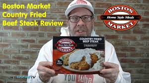 boston market meals country fried beef steak review 176 youtube
