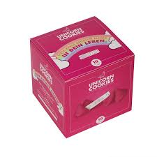 gl ckskekse spr che visual statements unicorn cookies 10 rosa glückskekse mit