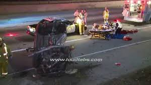 driver ejected u0026 killed in freeway crash downey raw footage