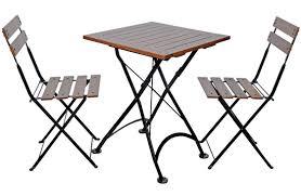 Cafe Style Table And Chairs 19th Century Reproduction French Bistro Square Chestnut Folding Tables