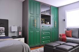 outstanding home wardrobe design with brown teak wood free
