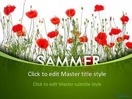 free sammer poppy ppt template