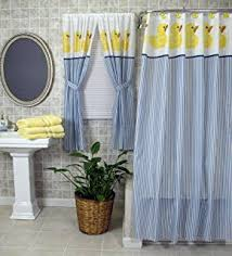 Bathroom Window And Shower Curtain Sets by Amazon Com Tropical Fish Bathroom Window Curtain Home U0026 Kitchen