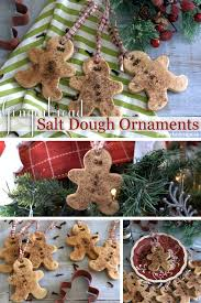 gingerbread salt dough ornaments