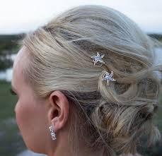 starfish hair clip rhinestone starfish wedding hair twist ins set of 6 starfish