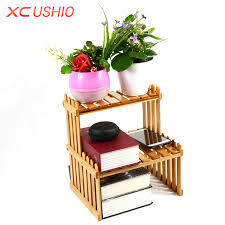 Diy Wooden Desktop by Xc Ushio Diy Wooden Desktop Storage Rack Home Office Plant