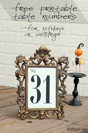 table numbers with pictures free printable table numbers