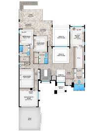 dimensioned floor plan marvelous contemporary house plan with options 86052bw