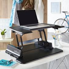 Adjustable Laptop Desks by Adjustable Standing Laptop Desk Stand In Black U Shape Decofurnish