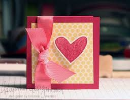easy valentines card make a card monday 7