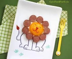 cute food for kids cutest food idea egg lion