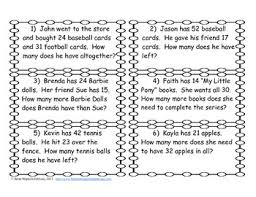 subtraction word problems addition and subtraction regrouping word problem task cards by