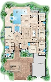 mediterranean house plans with pool mediterranean style house plan 4 beds 4 baths 5607 sq ft