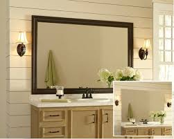 White Bathroom Mirror Frame Framed Bathroom Mirrors Also Wood Trim Mirror Also Wall To Wall