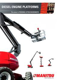 aerial work platform manitou pdf catalogue technical
