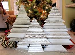 home made decoration pieces molding christmas tree sculptures using re purposed recycled