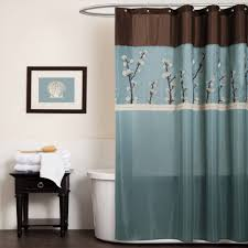 Designer Shower Curtain Brown And Blue Shower Curtain Set U2022 Shower Curtain Design
