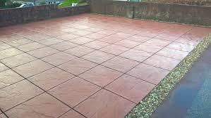 Patio Slabs Bridgend Cwm Llynfi Bricklaying Red Concrete Paving Slabs 600mm X 600mm