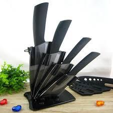 kitchen knives sale sale black blade ceramic knife set with acrylic knife holder
