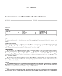 room lease agreement house lease agreement template leasesample