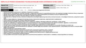 Biomedical Technician Resume Sample by Fire Protection Engineering Technician Resumes Samples