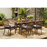 Wicker Patio Lounge Chairs Amazon Com Hampton Bay Spring Haven Brown All Weather Wicker