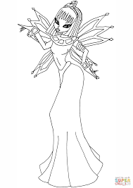 winx club egyptian fairy coloring page free printable coloring pages