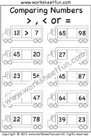 number u2013 greater u0026 smaller free printable worksheets u2013 worksheetfun