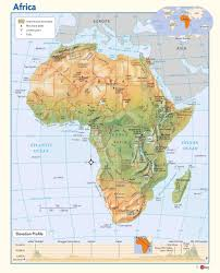africa map map africa physical wall map maps