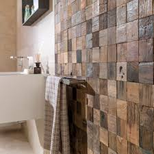 bathroom mosaic tile wall wooden patterned wood square