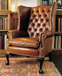 high back leather sofa high back georgian wing chair in leather with claw ball legs