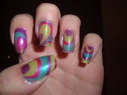 water marble nail design nail art gallery