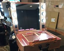 Makeup Lighted Mirror The Lighting Trolley With Mirror Is A Professional Makeup Lighted