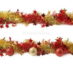 line of a tinsel garland isolated stock image image 69630107
