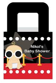 a star is born hollywood baby shower goodle bags candles u0026 favors