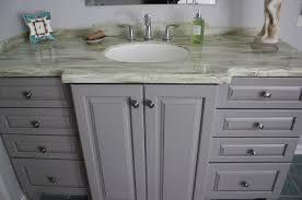Kraftmaid Grey Cabinets Bathroom Kraftmaid Marquette Door Style U0026 Maple Pebble Grey