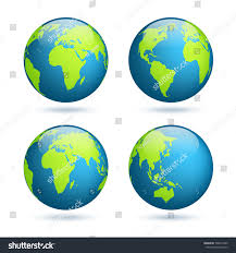 World Globe Map Earth Globe World Map Set Planet Stock Vector 598514849 Shutterstock
