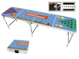 Beer Pong Table Length by Super Mario Themed Beer Pong Table Mario Basement Ideas