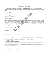 resignation letter retirement choice image letter format examples